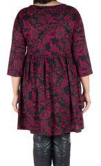 Robe tendance courte imprimée en coton Sajita 301692