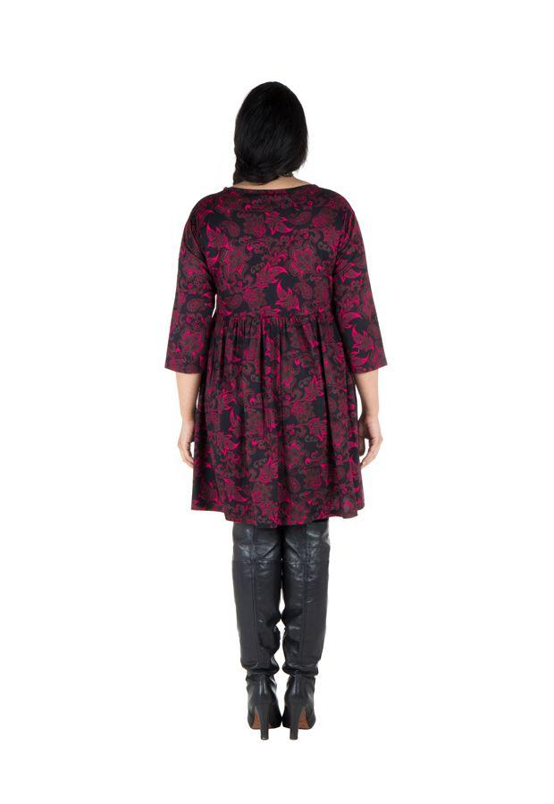 Robe tendance courte imprimée en coton Sajita 301694