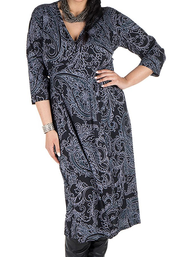 Robe tendance imprimée pour l'automne hiver grise femme Piita 300502