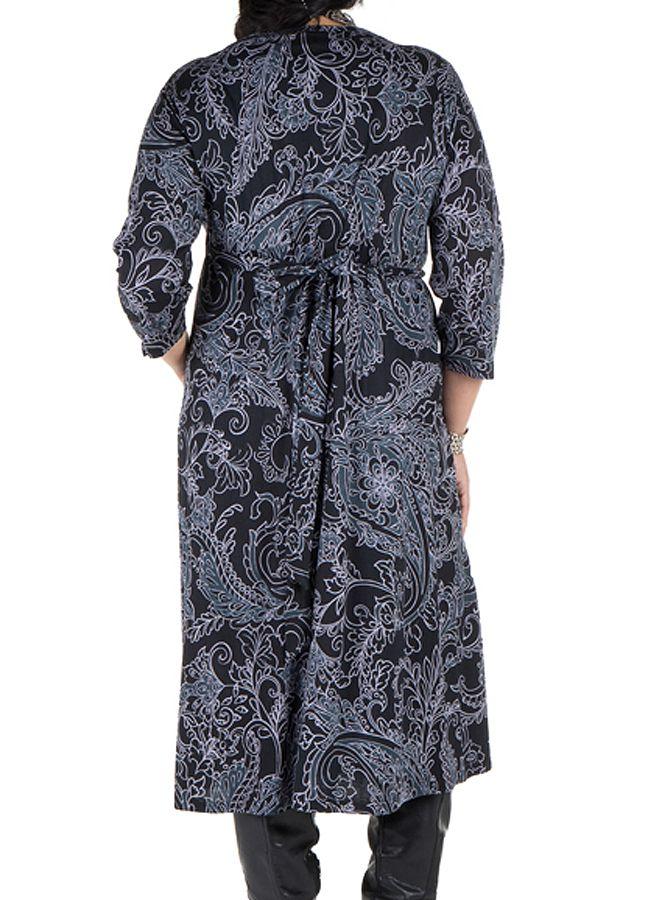 Robe tendance imprimée pour l'automne hiver grise femme Piita 300504