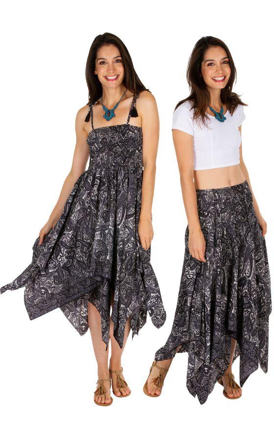 Robe transformable en jupe élégante look boho chic Marie 306152