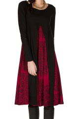 Robe trapèze ultra fantaisie à manches longues Brett 301515