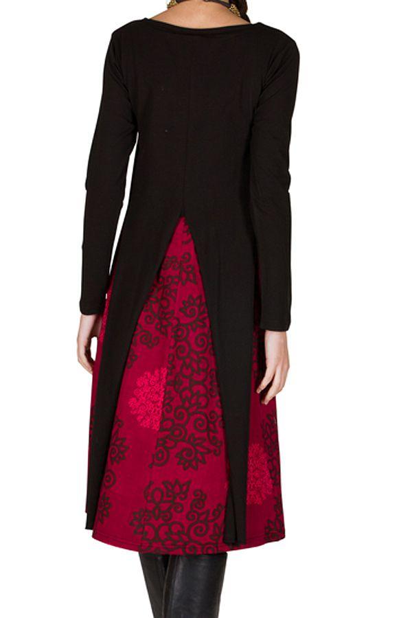 Robe trapèze ultra fantaisie à manches longues Brett 301517