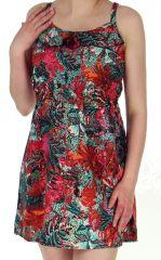Robe très courte d'été Fushia Tendance et Colorée Lydia 283072