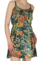 Robe très courte d'été Tendance et Colorée Lydia Verte 283069