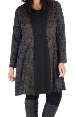 Robe tunique à col ample collection automne-hiver Heena 301409