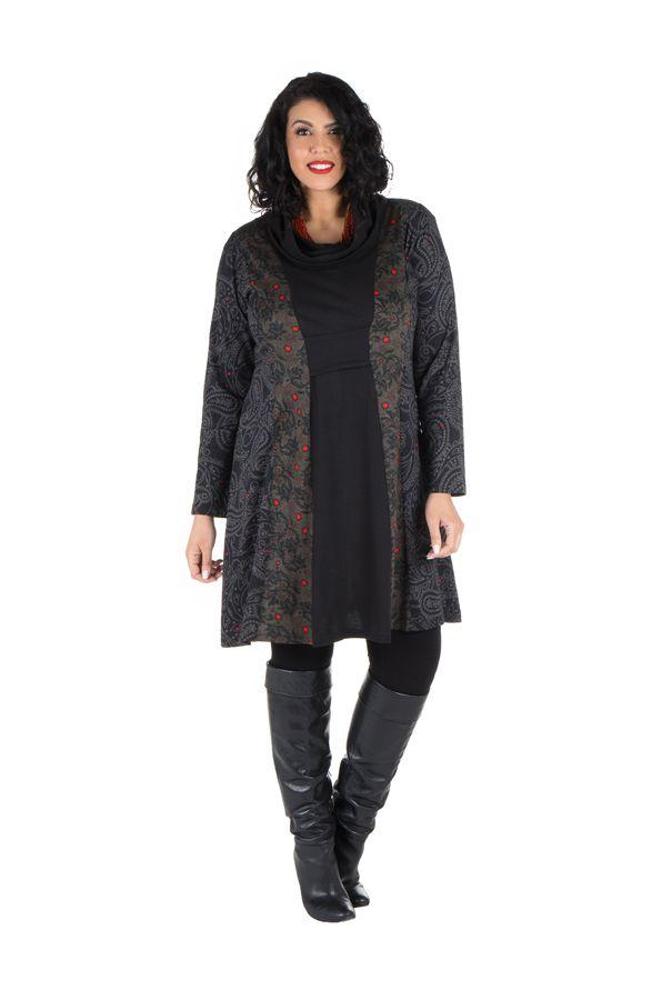 Robe tunique à col ample collection automne-hiver Heena 301410