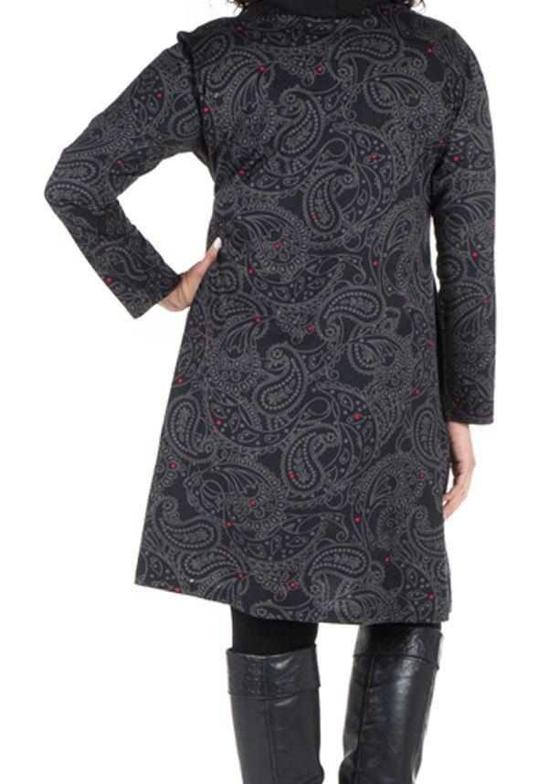 Robe tunique à col ample collection automne-hiver Heena 301411
