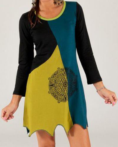 Robe Tunique à manches longues Ethnique et Originale Francisca 279685