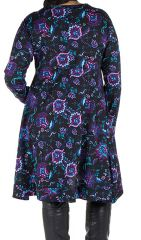 Robe tunique à poches fleurie Kosmik 301921