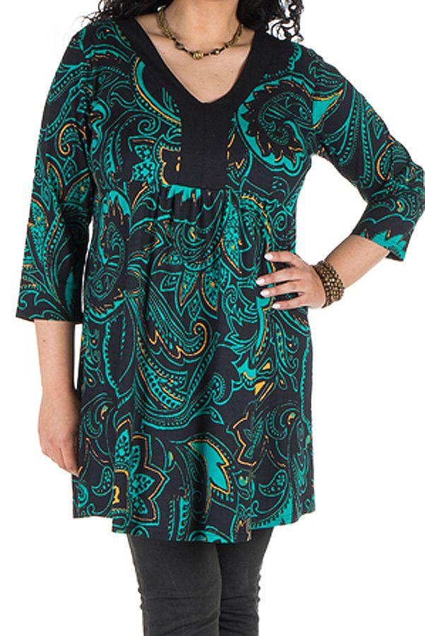 Robe tunique avec magnifique imprimées en coton Blunaya 301768