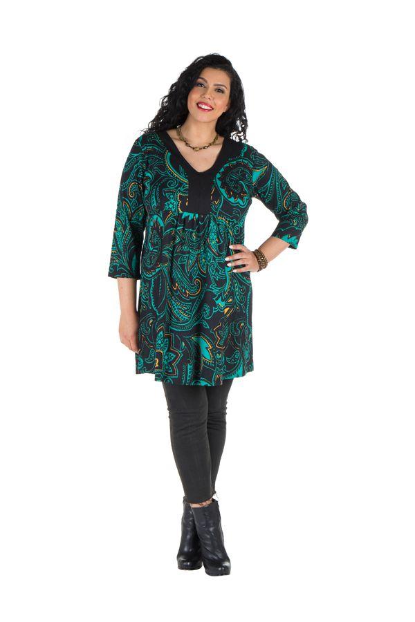 Robe tunique avec magnifique imprimées en coton Blunaya 301769