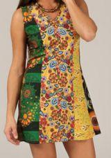 Robe Tunique d'été sans manches Ethnique et Colorée Chitrali 283370