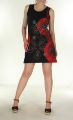 Robe tunique Girl power noire et rouge 299722