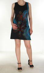 Robe tunique Girl power noire et turquoise 299710