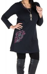 Robe tunique grande taille à imprimé floral Mariotte 301951