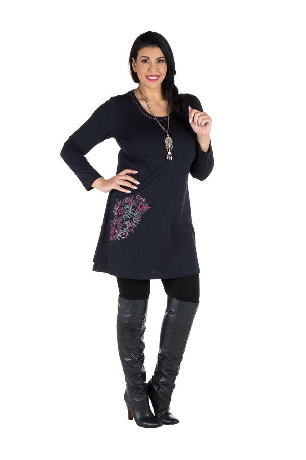 Robe tunique grande taille à imprimé floral Mariotte 301952