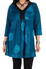 Robe tunique imprimée colorée Amolik 301780