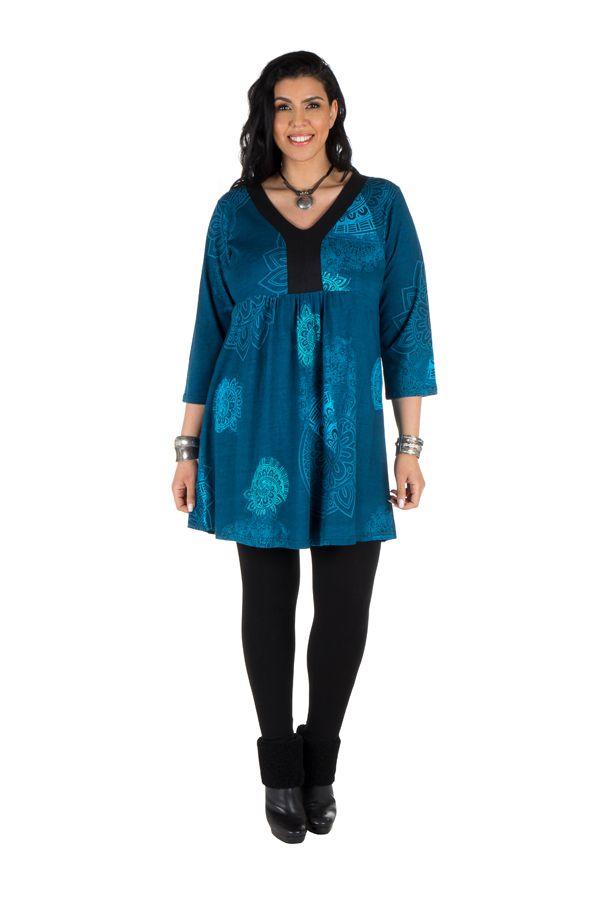 Robe tunique imprimée colorée Amolik 301782