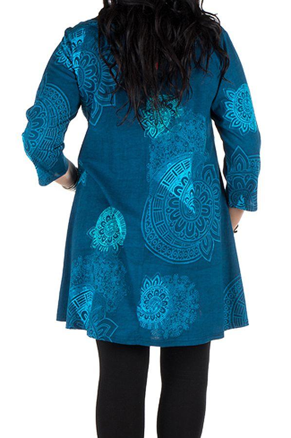 Robe tunique imprimée colorée Amolik 301783