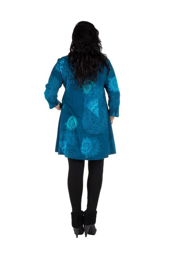 Robe tunique imprimée colorée Amolik 301786