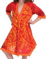 Robe Tunique Orange pour Fille Colorée et Asymétrique Hortensia 280639