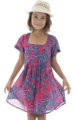 Robe tunique pour enfant avec col carré et imprimés Zana 294825