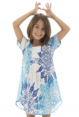 Robe tunique pour enfant avec imprimés tendance bicolore Zana 294807