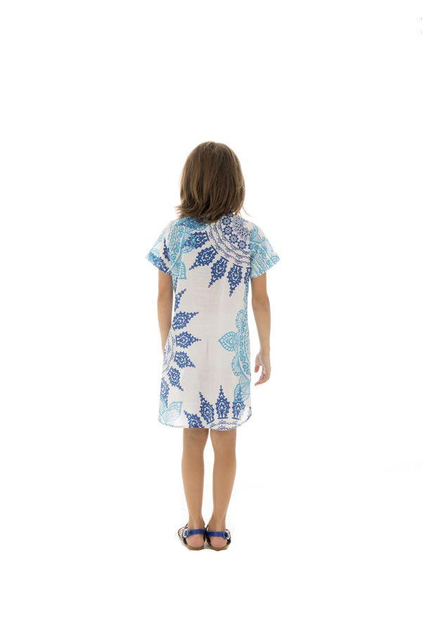 Robe tunique pour enfant avec imprimés tendance bicolore Zana 294810