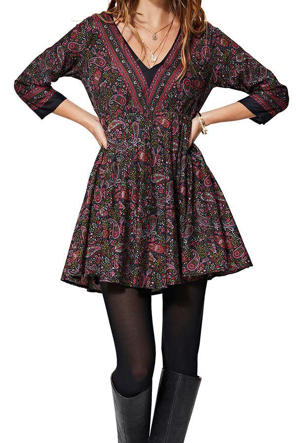 Robe tunique pour femme évasée colori chic Spencer
