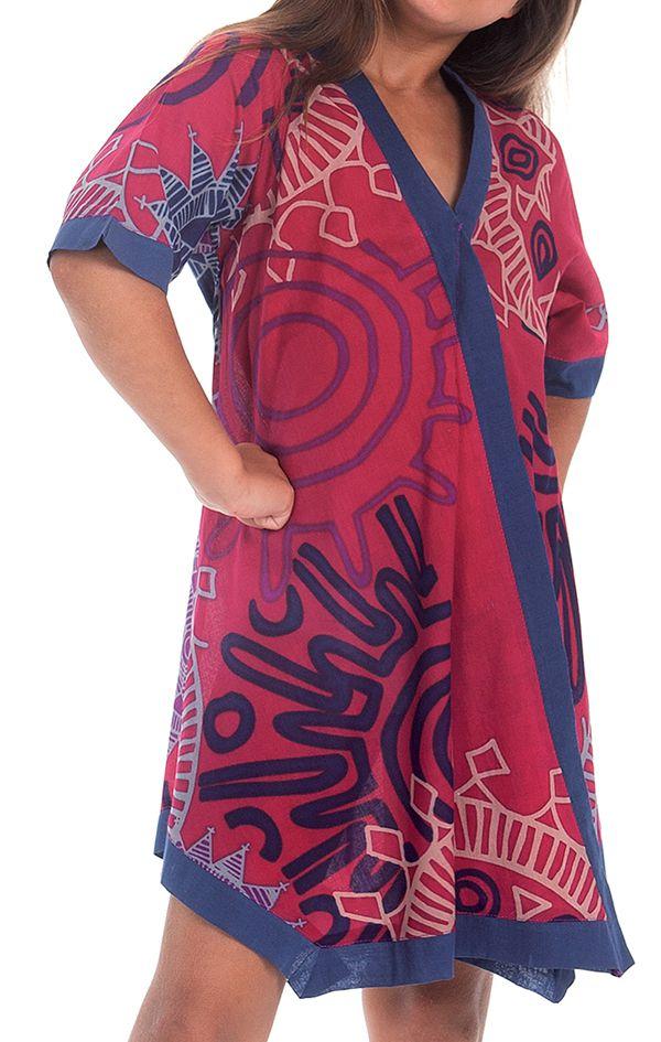 Robe Tunique pour Fille Asymétrique et Colorée Hortensia Fushia 280637
