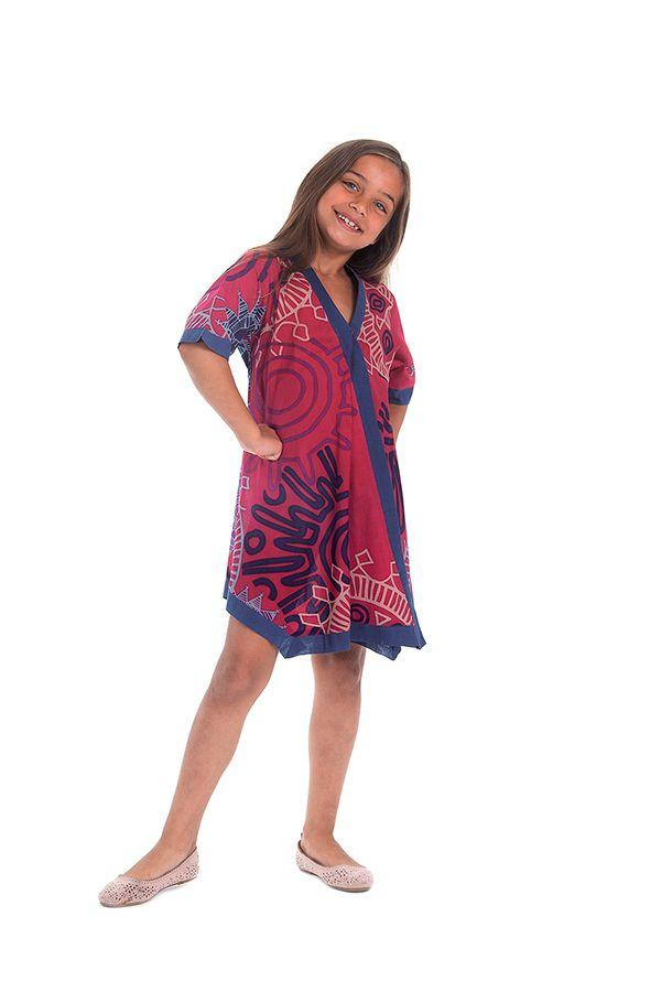 Robe Tunique pour Fille Asymétrique et Colorée Hortensia Fushia 280638