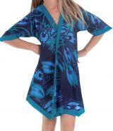 Robe Tunique pour Fille Colorée et Asymétrique Hortensia Bleue 280633