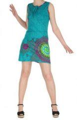Robe turquoise colorée et originale Julianne 269356