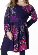 Robe violette fun style espagnol pour enfant 287298