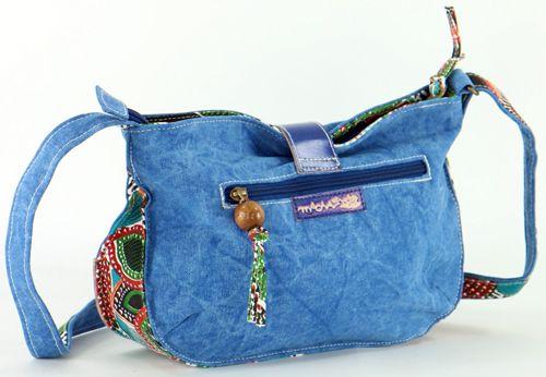 Sac femme Macha bleu coloré à bandoulière modèle Choupi 271517
