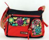 Sac femme Macha original noir et rouge à bandoulière Spirale 271316