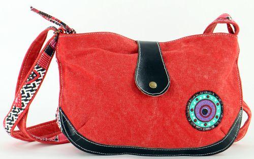 Sac femme Macha rouge coloré à bandoulière modèle Choupi 271512