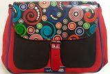 Sac Macha chic rouge et noir à bandoulière Axl 305359
