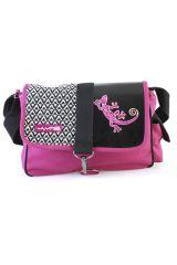 Sac Macha coloré noir et rose à bandoulière modèle Gipsy 288025