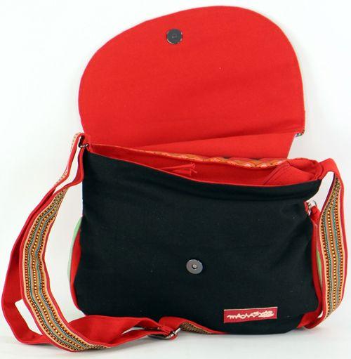Sac Macha coloré noir et rouge à bandoulière Bounty 271486