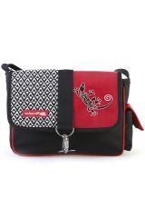 Sac Macha coloré noir et rouge à bandoulière modèle Gipsy 288021