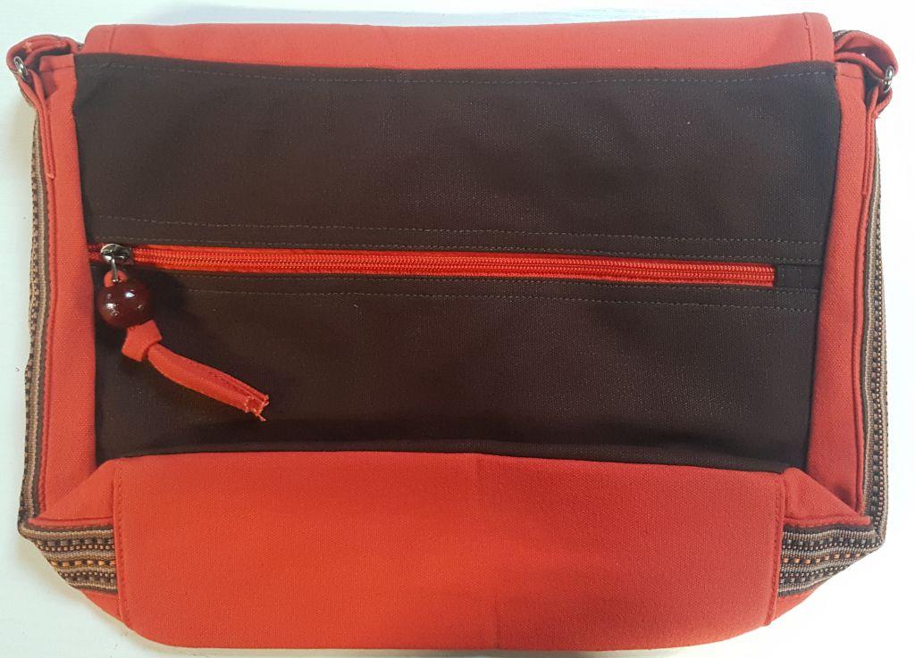 Sac Macha coloré orange et marron à bandoulière king 305261
