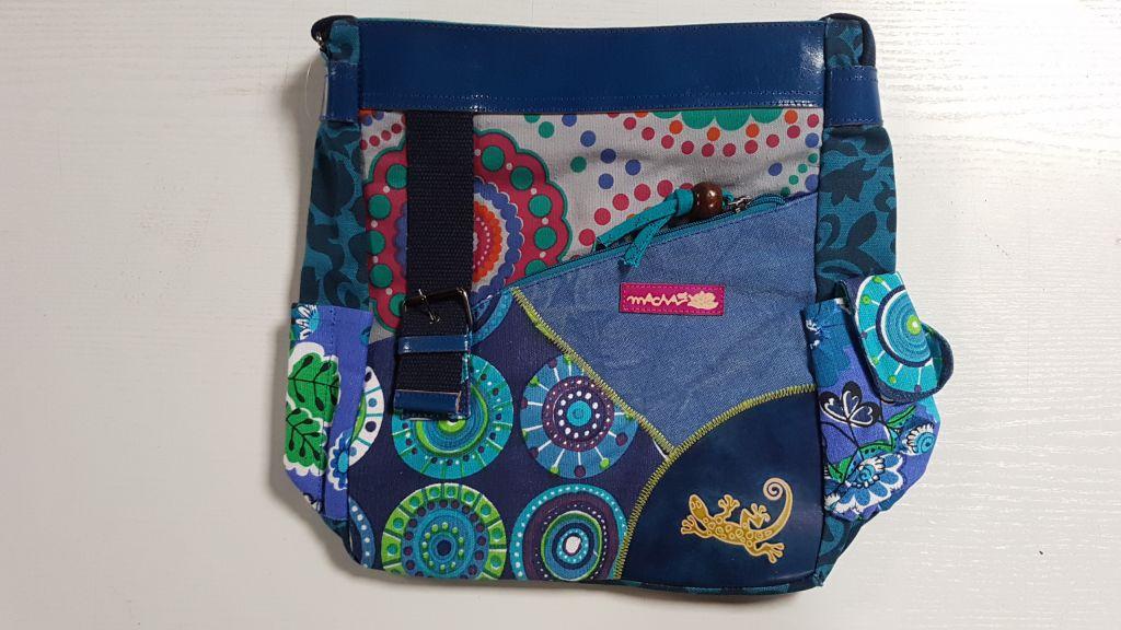 Sac Macha coloré tons blue à bandoulière Gecko 305369