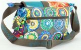Sac Macha cuir et coton à bandoulière Salamandre n1 271504