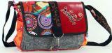 Sac Macha cuir et coton à bandoulière Salamandre n2 271506