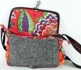 Sac Macha cuir et coton à bandoulière Salamandre n2 271508