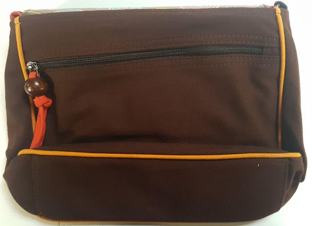 Sac Macha élégant marron et orange à bandoulière Axl