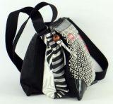 Sac Macha en cuir et coton noir 3 compartiments Spring 271329