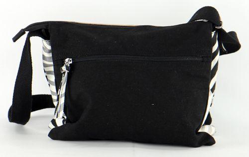 Sac Macha en cuir et coton noir 3 compartiments Spring 271331